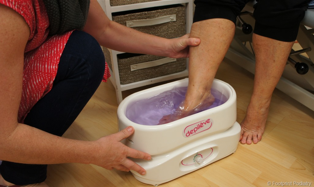Then Will Dip Your Feet Three Times Into The Beautiful Warm Wax